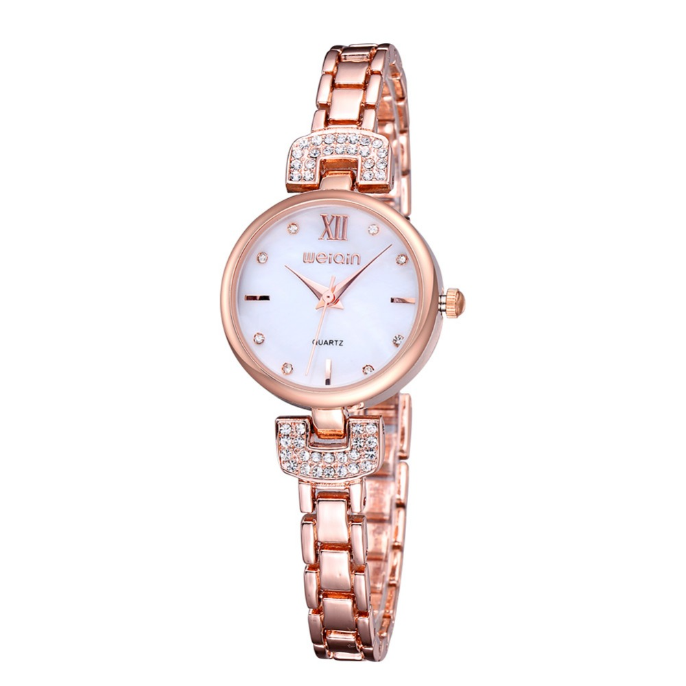 2016 WEIQIN fashion crystal Rose Gold watches luxury Fashion Ladies Watches()