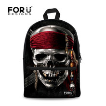 Buy College Student Backpack Canvas Skull Print School Book Bags Animal Leopard 3D Double Shoulder-bags Leisure Style Sac Dos for $24.74 in AliExpress store