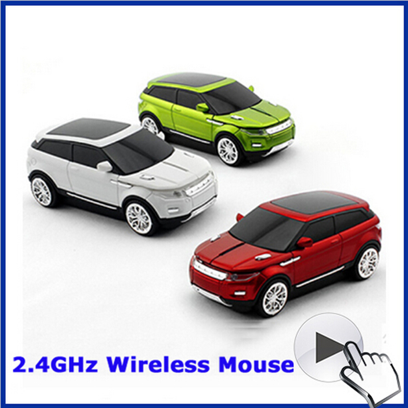 Free Shipping Latest fashion SUV super mini car mouse gamer professional souris sans fil mause wireless cool gift for Evoque(China (Mainland))