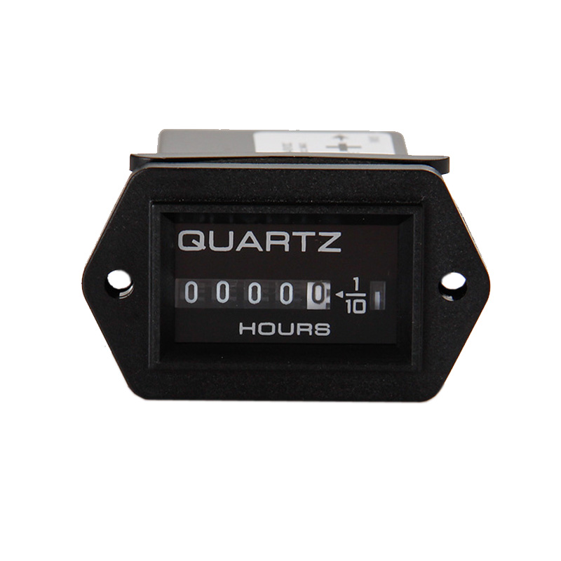 Free Shipping! DC12-40V Mechanical digital Hour Meter for Diesel Engines Mower Tractor transfer pump Truck black(China (Mainland))