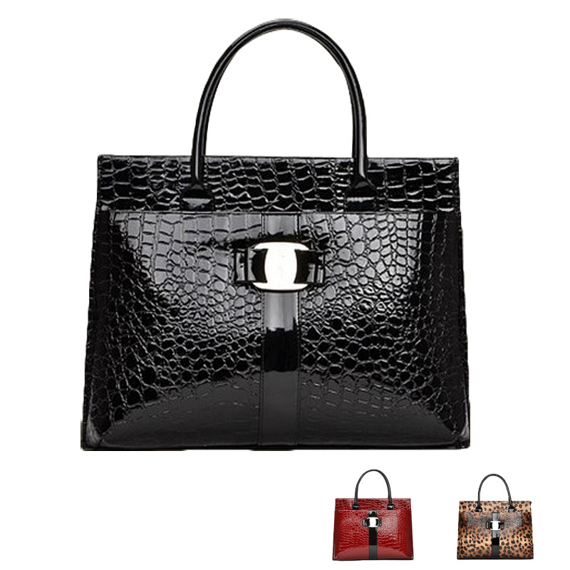 High quality 2015 New Crocodile women shoulder bag Retro Pack Female handbag PU leather bags tote bags Free Shipping(China (Mainland))