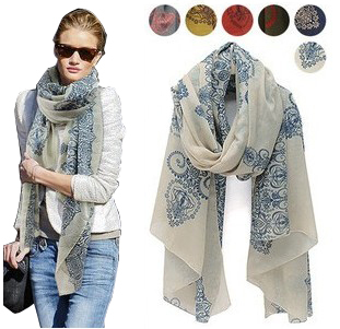 Free Shipping !2015! Temperament Excellent, Blue and White Porcelain Style Thin Section the Silk Floss Women Scarf Shawl.