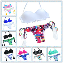 2016 BAIHONG Swimsuit Bathing Suit Low Waist Fashion Sexy Padded Bra Brazilian Bikini Swimwear Women/ Lady  Biquini BHSJ15302