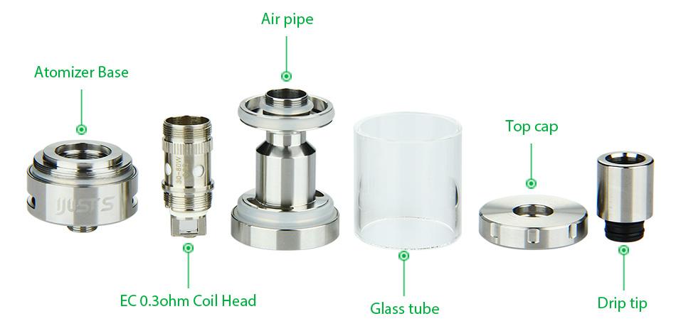 ถูก Eleaf ijust sเครื่องฉีดน้ำ4มิลลิลิตรถังบุหรี่อิเล็กทรอนิกส์ด้านบนกรอกijust sถังบุหรี่อิเล็กทรอนิกส์VapeพอดีECหัว/ECR/ECหัวTi/Niขดลวด