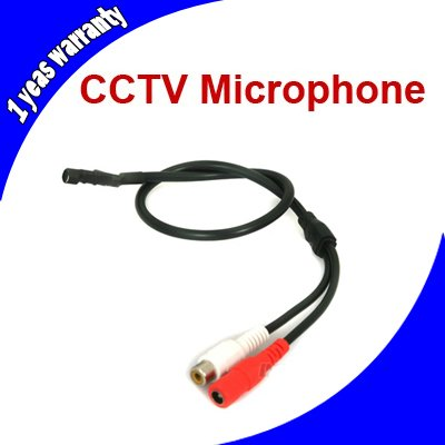 Mini Audio CCTV Microphone Mic RCA Output for CCTV Security System Camera DVR(China (Mainland))