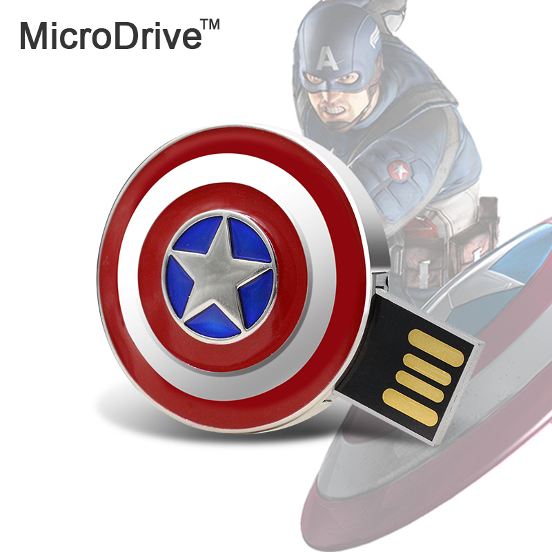 Cartoon Hero Captain America USB Flash Drive16GB Memory Pen/Thumb Drive 16GB Cartoon pen drive(China (Mainland))