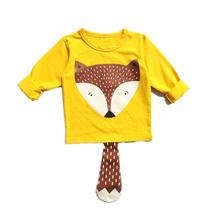 2016 Brand New Spring Summer Kids T-shirt 100%Cotton Jersey Allover Cat Print Long Sleeves Boy's Girls Baby T shirt Bobo Choses
