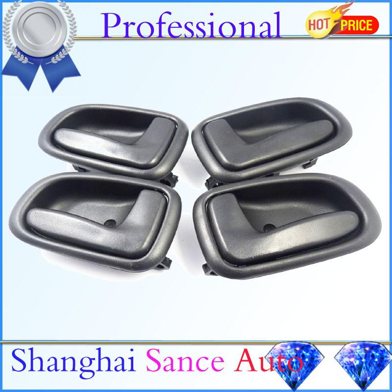 Black Inside Door Handle Front Rear Left Right 6920612130 6920512130 For 1993 Geo Prizm Toyota