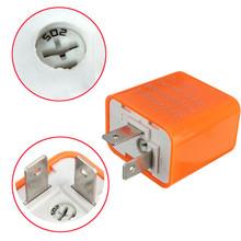 Big Promotion 2 Pin Adjustable LED Flasher Blinker Relay Motorcycle Turn Signal Indicator 12V Orange