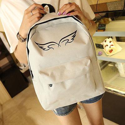 2016 New Style Women Lady Unisex Canvas Vintage Backpack Rucksack College Shoulder School Bag(China (Mainland))