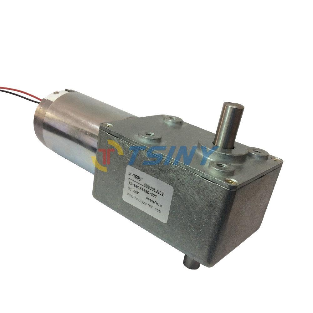 High Quality 24v 6rpm Dc Worm Gear Motors Brush Dc Motor