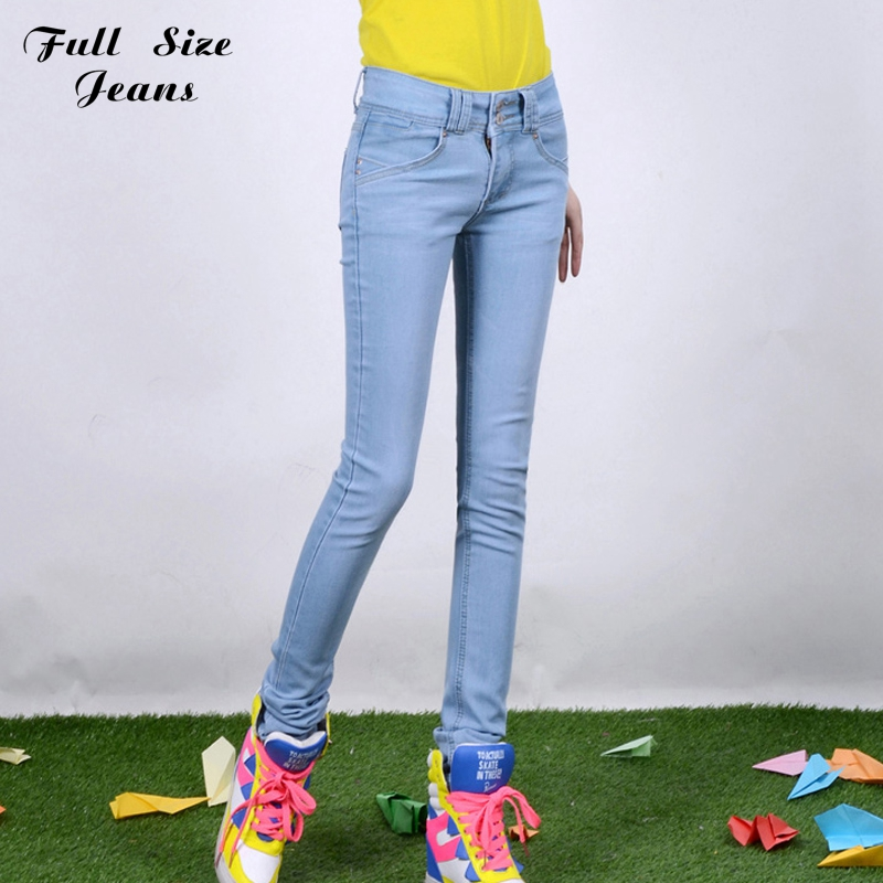 Low Waist Extremely Long Skinny Jeans for Tall Girl Extra Long Pencil Pants Plus Size White Blue Denim Jean 22W 24L L32 4Xl 5Xl(China (Mainland))