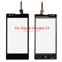 Original Digitizer 4.7inch Touch Screen Glass For Xiaomi Red rice Hongmi 1S front panel Black