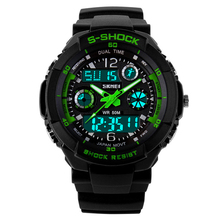 Sport Watches For Men Military Wristwatches S-SHOCK Fashion Wrist Watches Dual time Digital Analog LED Watches Reloj Xfcs 2015