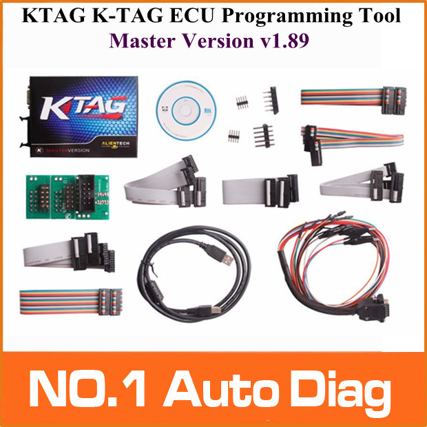 Free Shipping New Design Professional auto ECU programmer KTAG K-TAG ECU Programming Tool master version v1.89 , Jtag compatible(China (Mainland))