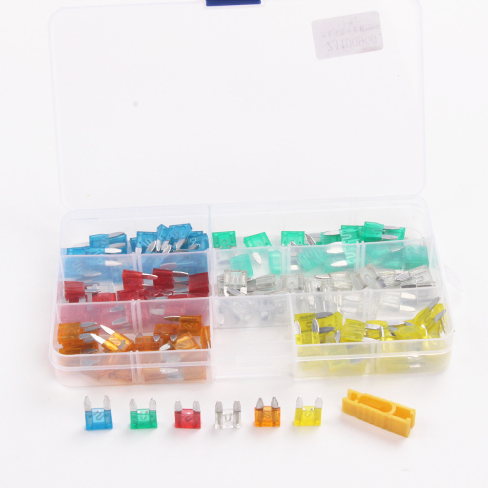 120pcs Small Size Low Profile Blade Type Fuses Assortment Set Auto Car Truck insurance piece kit(China (Mainland))