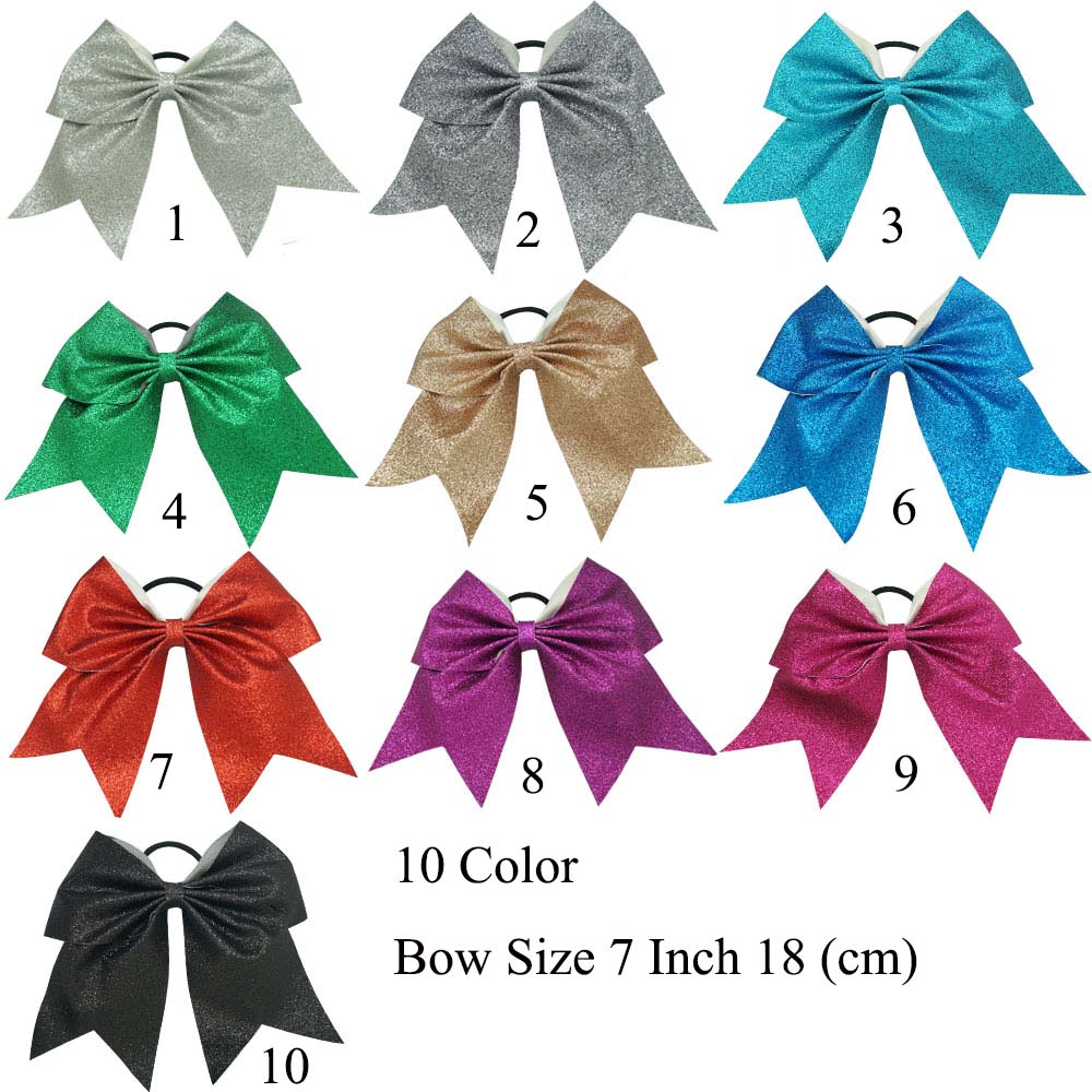 30Pcs/Lot High Quality Fashion Glitter Cheer Bow For Baby Sweet Elastic Hair Band Girls Hair Bow Hair Accessories(China (Mainland))