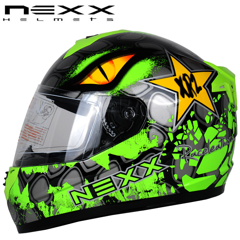 Free shipping DOT safety standards NEXX street car racing motorcycle helmet full helmet men and women run / Green Eye of Sauron(China (Mainland))