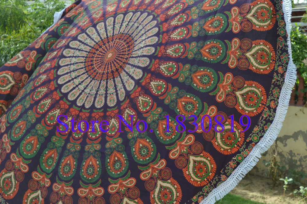Indian Hippie Tapestry Mandala Bohemian Bedding Round Size Bedsheet (100% Premium Quality) Perfect gift For Home / Office Decor.