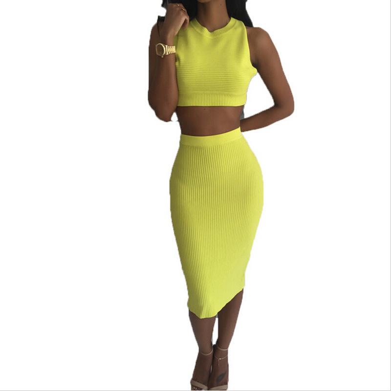 Sexy Club Dress 2016 New Brand Fashion Summer Dresses For Women Backless White Yellow Cotton 2 Piece Bandage Dress Vestidos(China (Mainland))