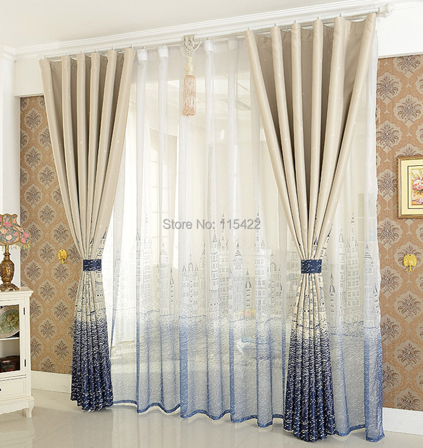 Modern brief curtain blind blackout children sheer window - Modern fabrics for curtains ...