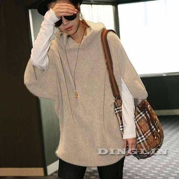 Korean Fashion Women Ladies Loose Sleeve Knit Personalized Casual Autumn Winter Sweater Jumper Pullover Top Free Shipping 1028(China (Mainland))