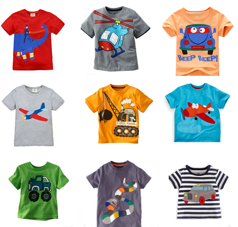 Retail brand new 2015 children s t shirt baby boys t for Kids t shirts in bulk