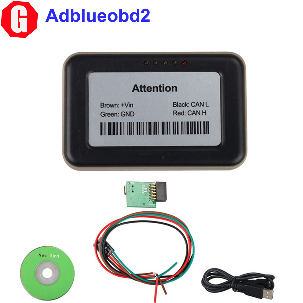 Free Shipping! Truck Adblueobd2 Emulator 8-in-1 With Programming Adapter For Mercedes MAN IVEC O DAF V olvo Renault F0rd(China (Mainland))