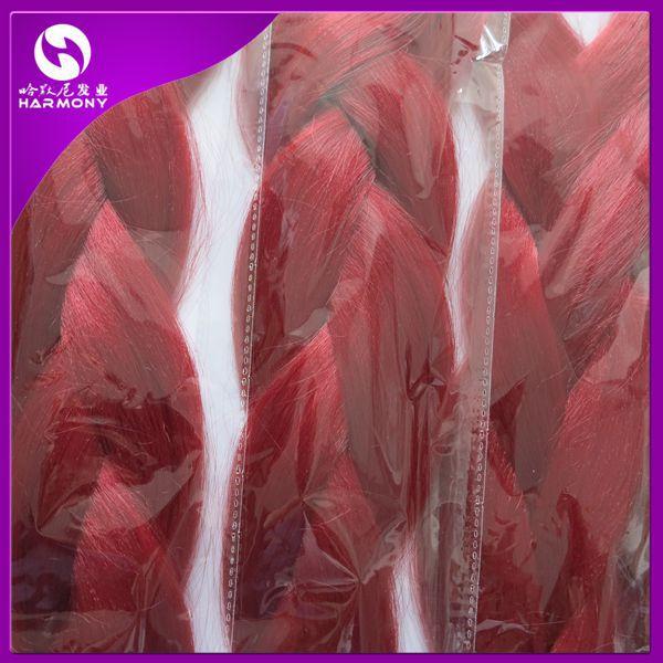 Cheapest Shipping!!!!!   10 packs dark red jumbo braiding hair with yaki texture for dreadlocks making(China (Mainland))