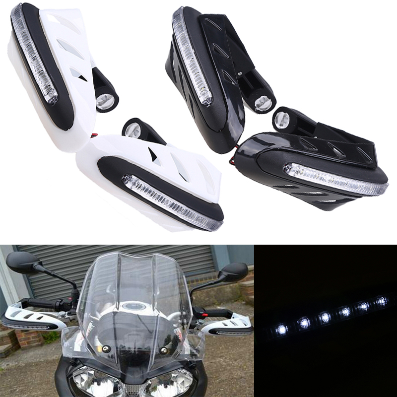 "Motorcycle Hand Guards LED Turn Signal Light Lamp Brush Handlebar Protector 7/8""For Honda Suzuki Kawasaki Yamaha Hand Guards(China (Mainland))"