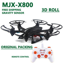 MJX X800 RC TOYS helicopterdrone drone quadcopter 2.4G 6-axis 4CH RC helicopter with 3d flip roll gravity sensor /Without camera