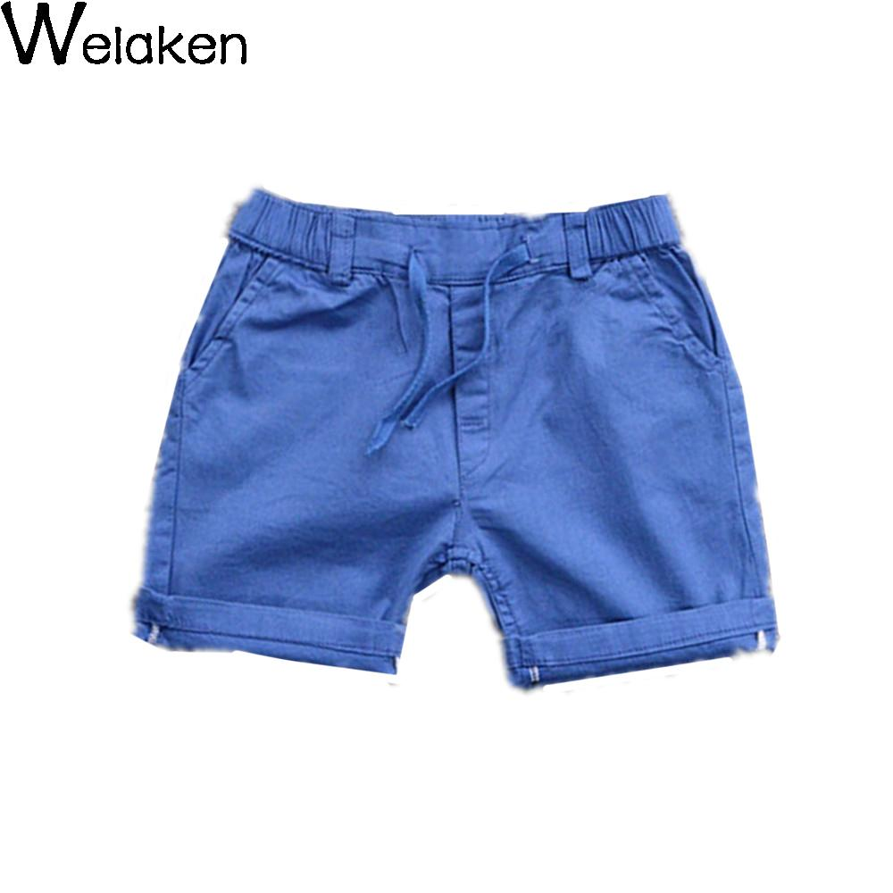 New Fashion 2016 Children Shorts Candy Color Drawstring Cotton Boys Bottom Kids Trousers Casual High Quality Boy Shorts(China (Mainland))