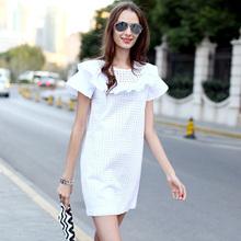 Veri Gude Summer Dress White Dress Women Ruffle Dress Hollow Out Cotton Material(China (Mainland))