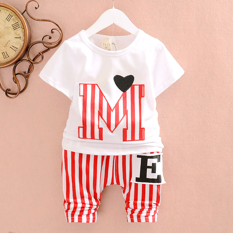 summer style Children's clothing female child 0-1 - 23 baby set male twinset short-sleeve capris kids clothes Lophil Fashion life store