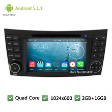 Quad core Android 5.1.1 Car DVD Player Radio Audio Stereo Screen PC for Mercedes-Benz E-Class W211 E200 CLS W219 CLS55 CLK W209