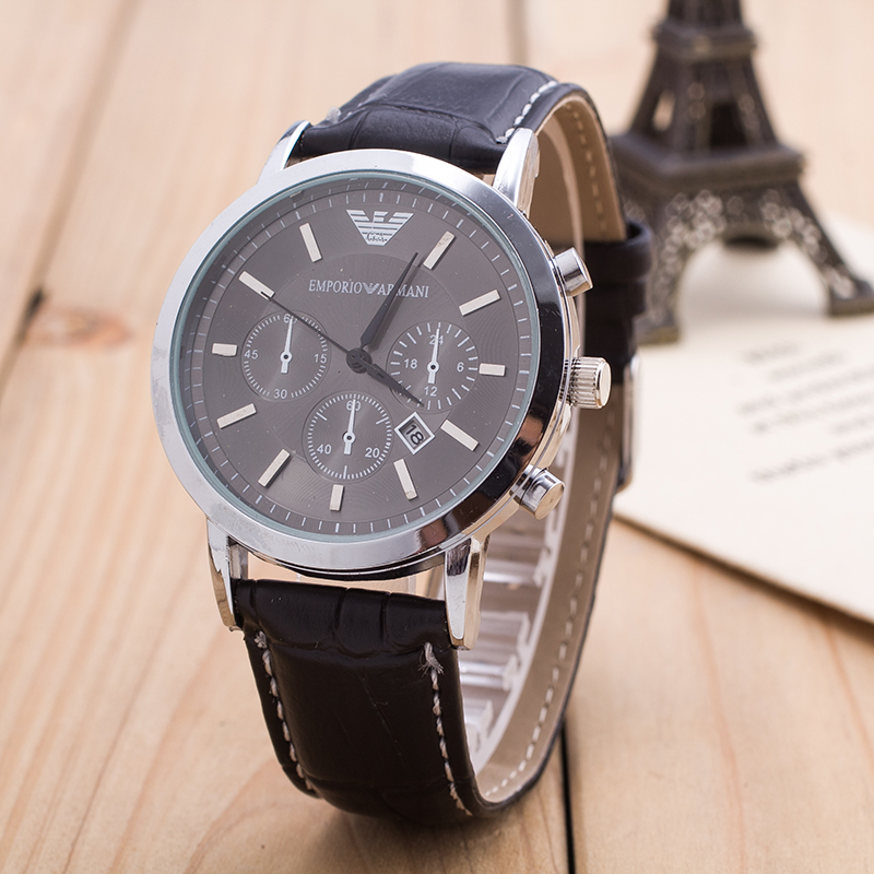 Mens Clock Hour Fashion Watch Women Alloy Steel PU Geniues Leather White And Black Big Dials Busniess Wristwatch <br><br>Aliexpress