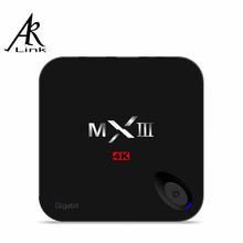 1pc MXIII-G MXIII Gigabit Ethernet  Amlogic S812 Android 5.1 TV BOX 1000M LAN Quad-core 2GB/8GB 2.4/5GHz Dual WiFi BT 4.0 H.265