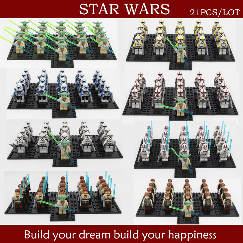 2 Star wars Figures Yoda Sith warrior Clones/robot crops Building Blocks Sets Bricks Classic Toys Compatible gift - lalalemon's store