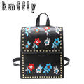 KMFFLY 2017 Embroidery China Wind Trave Backpack School Bags For Teenagers Casual Brown Backpack Women Mochila