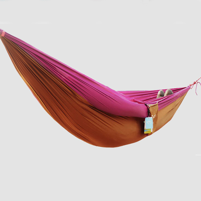 Double Or Single Hammock Camping Survival Swing Equipment Soft Ultralight Breathable Parachute Cloth Indoor Or Outdoor T147(China (Mainland))