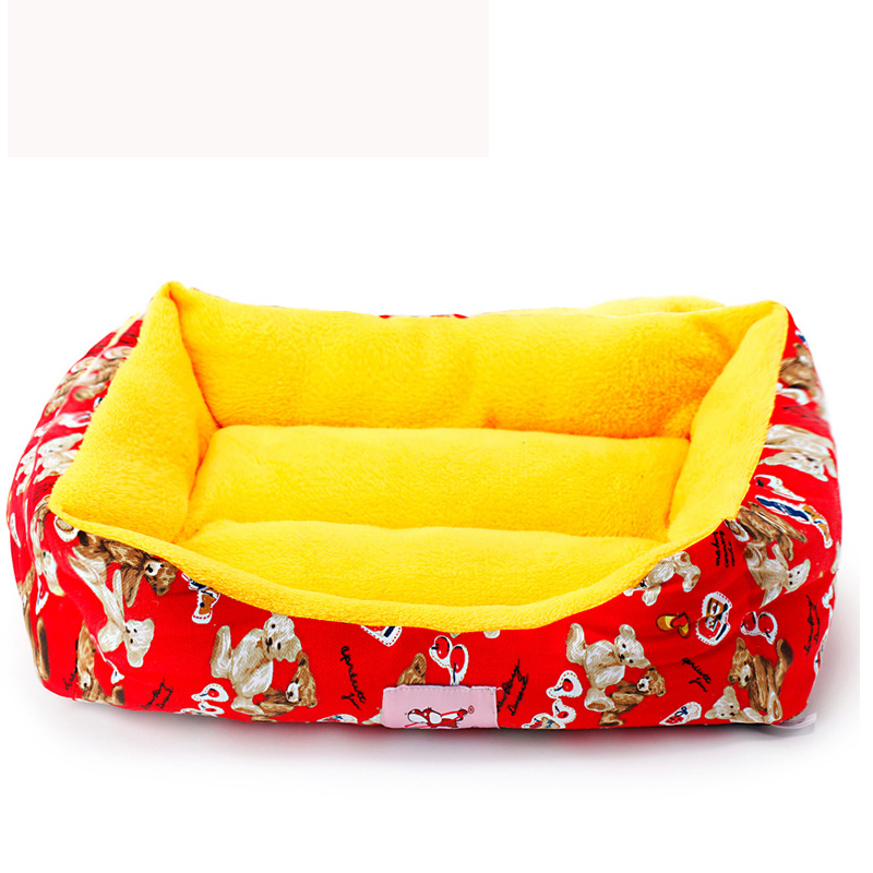 2015 New Pet Beds For Puppy Animals Cartoon Flannel Retail & Wholesale Dogs Brad Cushion Goods For Chihuahua Yorkshire(China (Mainland))