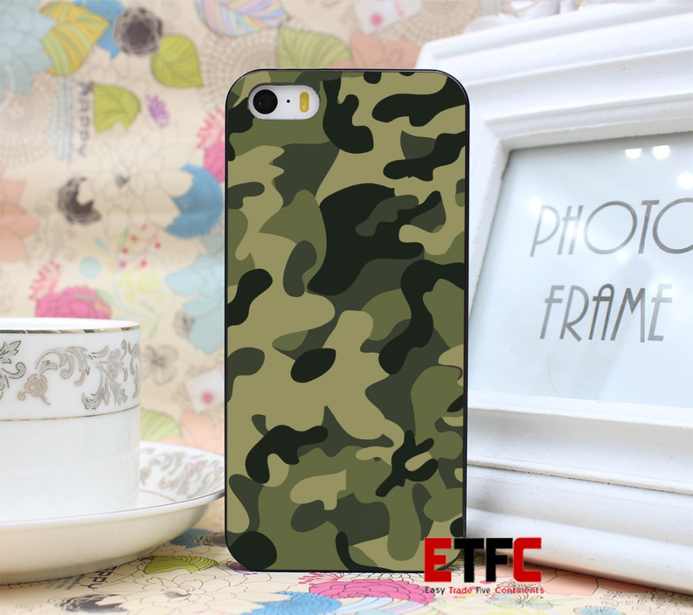 military color New Fashion Design Hard Black Skin for iPhone 5 5s 5g Case Cover
