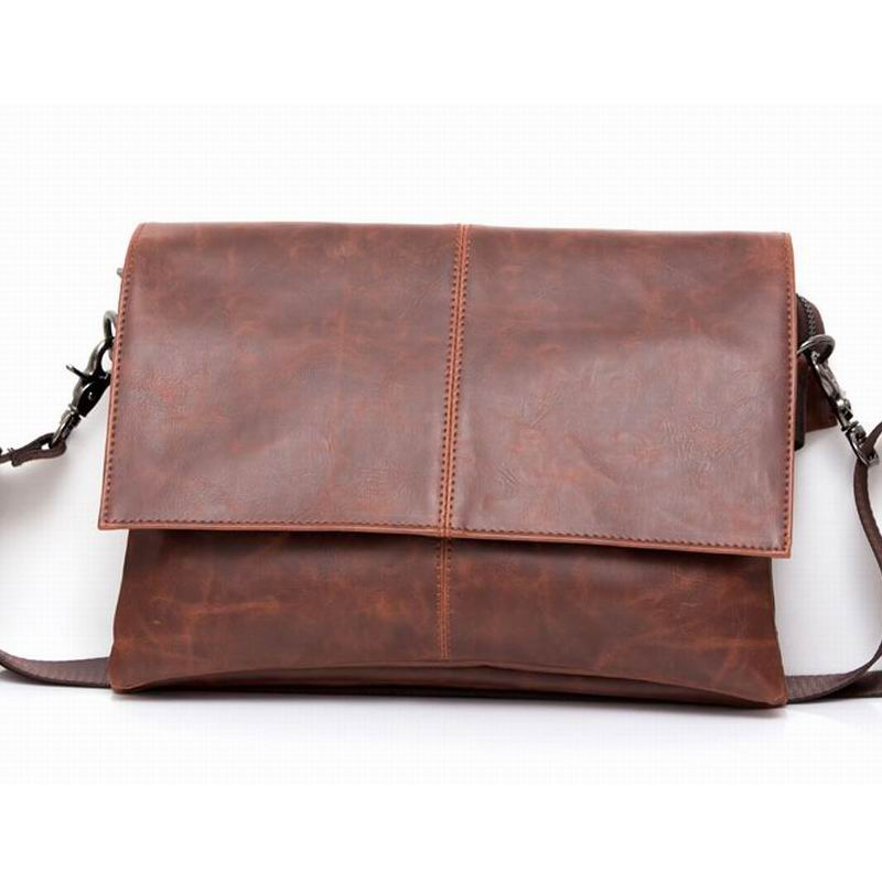 2016 Designer Handbags Men's Messenger Bags Crazy Horse PU Leather Vintage Men Travel School Bags Leisure Crossbody Bags Satchel
