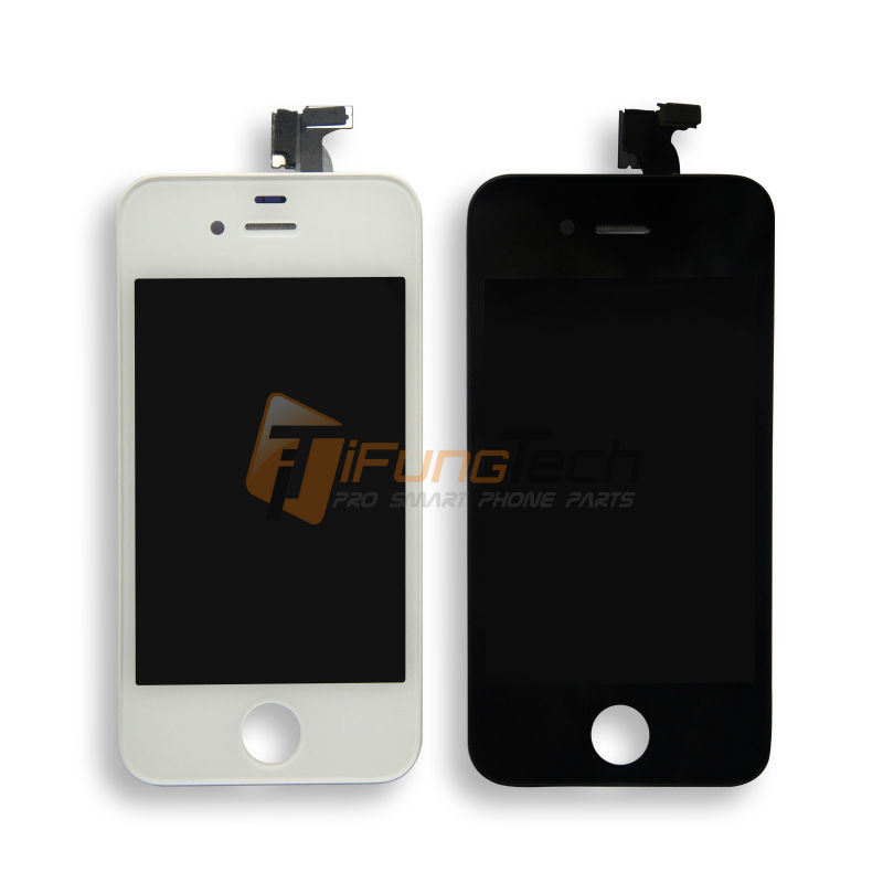 1PC Black and White LCD For iPhone 4S LCD Display+Touch Screen digitizer + Cheap Price with Top Quality with Free shipping(China (Mainland))