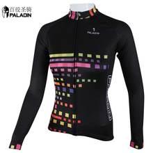 Hotseller Women long sleeve summer cycling jersey Women Long Pants Sportswear High quality PALADINsports Colorful grid Black