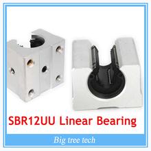 SBR12UU SBR12 Linear Bearing 12mm Open Linear Bearing Slide block 12mm CNC parts linear slide