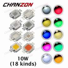 High Power LED Chip 10W LED Beads 10 W Natural Cool Warm White Red Blue Green UV RGB IR Full Spectrum Grow Light for Floodlight(China (Mainland))