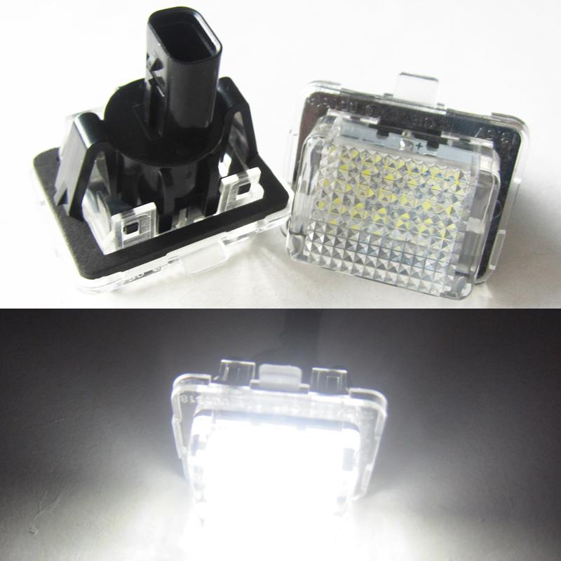 2pcs18smd no error led number license plate light oem for Mercedes benz light bulb replacement