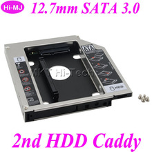 """New Arriver for CD ODD DVD ROM Notebook Optical Bay Universal Aluminum 2nd HDD Caddy 12.7mm 2.5""""SATA 3.0 SSD Case HDD Enclosure(China (Mainland))"""