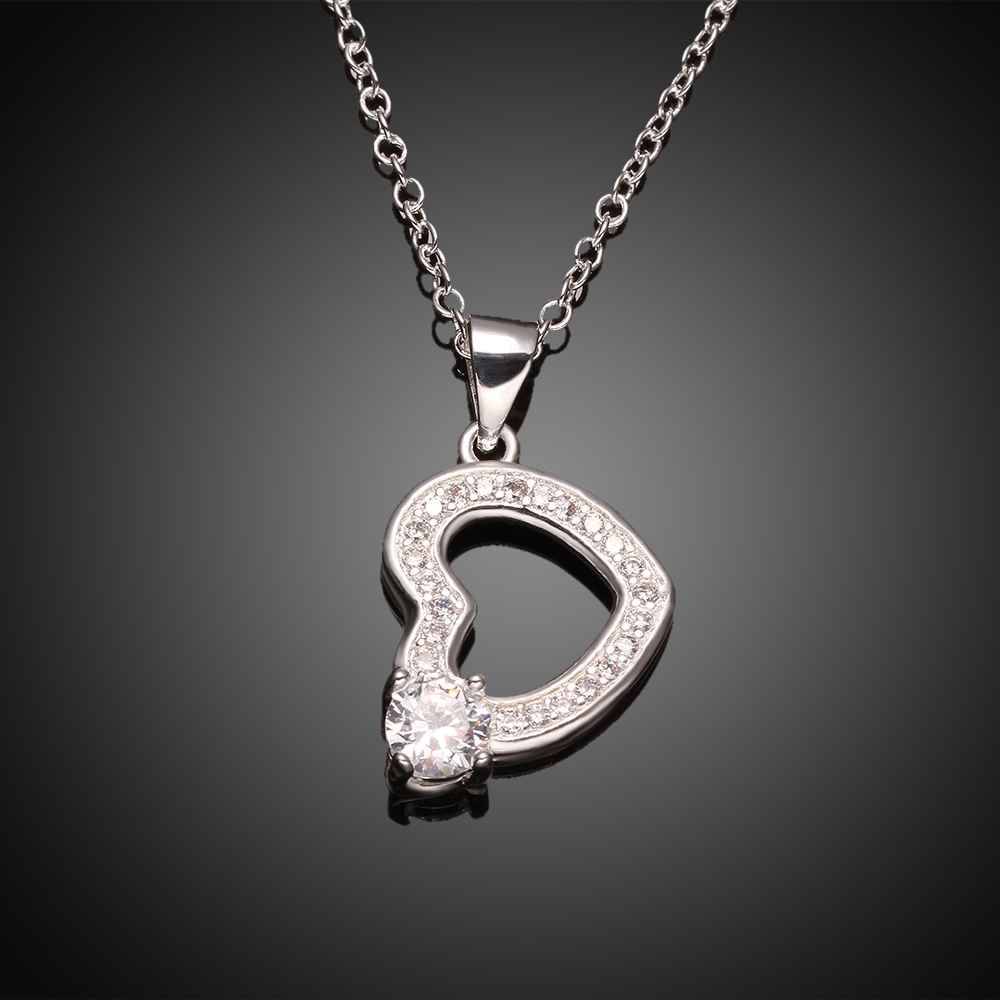 Free Shipping NEW!! joyas de plata 925 necklace men hearts bisuteria bijoux women FSPN002(China (Mainland))